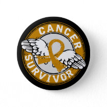 Survivor 14 Appendix Cancer Pinback Button