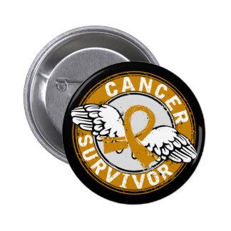 Survivor 14 Appendix Cancer Pinback Button