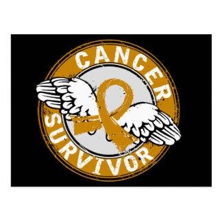 Survivor 14 Appendix Cancer Postcard