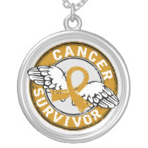 Survivor 14 Appendix Cancer Silver Plated Necklace