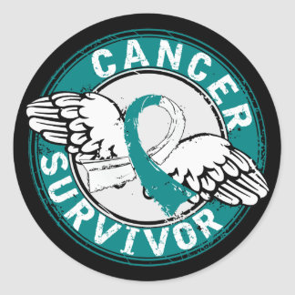 Survivor 14 Cervical Cancer Classic Round Sticker