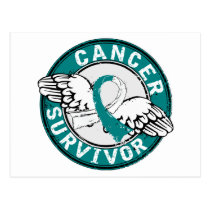 Survivor 14 Cervical Cancer Postcard