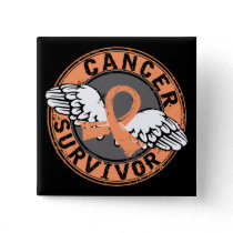 Survivor 14 Endometrial Cancer Button