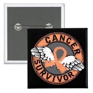 Survivor 14 Endometrial Cancer Button