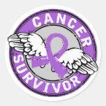 Survivor 14 General Cancer Classic Round Sticker