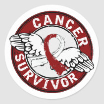 Survivor 14 Head and Neck Cancer Classic Round Sticker