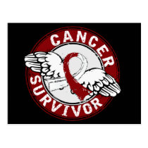 Survivor 14 Head and Neck Cancer Postcard
