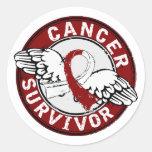 Survivor 14 Head and Neck Cancer Classic Round Sticker