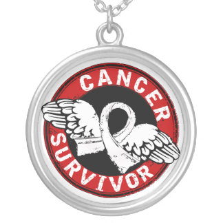 Survivor 14 Lung Cancer Silver Plated Necklace