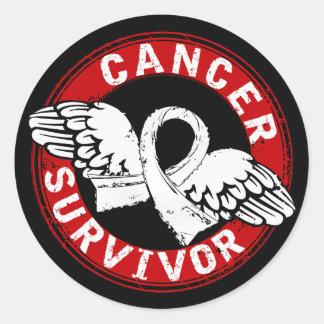 Survivor 14 Lung Cancer Round Stickers