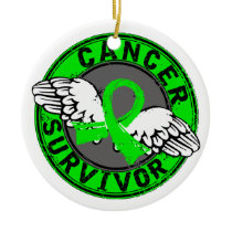 Survivor 14 Lymphoma Ceramic Ornament