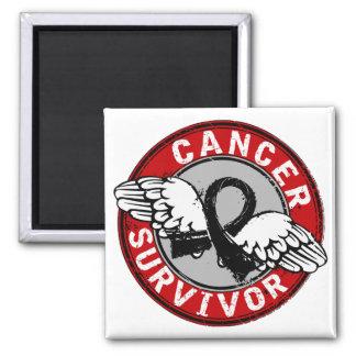 Survivor 14 Melanoma 2 Inch Square Magnet