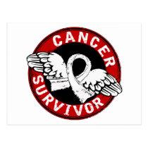 Survivor 14 Mesothelioma Postcard