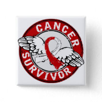 Survivor 14 Oral Cancer Button