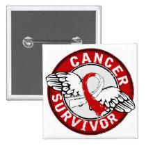 Survivor 14 Oral Cancer Button