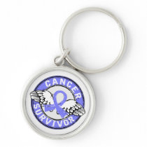 Survivor 14 Prostate Cancer Keychain
