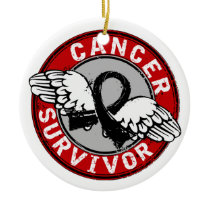 Survivor 14 Skin Cancer Ceramic Ornament