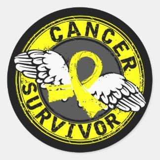 Survivor 14 Testicular Cancer Round Sticker