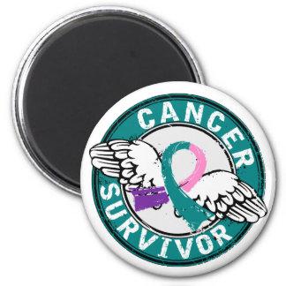 Survivor 14 Thyroid Cancer 2 Inch Round Magnet