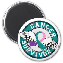 Survivor 14 Thyroid Cancer Magnet