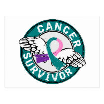 Survivor 14 Thyroid Cancer Postcard