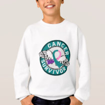 Survivor 14 Thyroid Cancer Sweatshirt