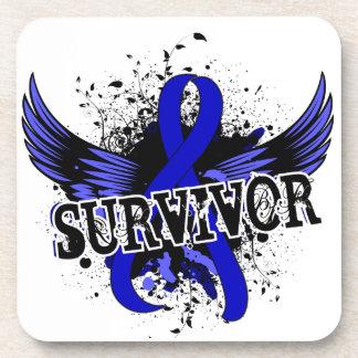 Survivor 16 Anal Cancer Beverage Coasters