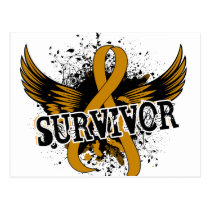 Survivor 16 Appendix Cancer Postcard