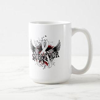 Survivor 16 Bone Cancer Classic White Coffee Mug