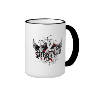 Survivor 16 Bone Cancer Ringer Coffee Mug