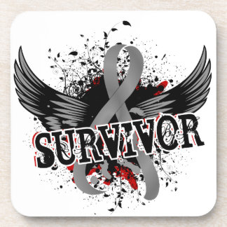 Survivor 16 Brain Tumor Beverage Coaster