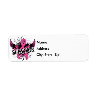 Survivor 16 Breast Cancer Label