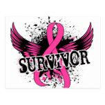 Survivor 16 Breast Cancer Postcard