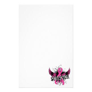 Survivor 16 Breast Cancer Customized Stationery