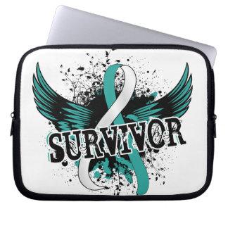 Survivor 16 Cervical Cancer Laptop Sleeves