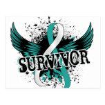 Survivor 16 Cervical Cancer Postcard