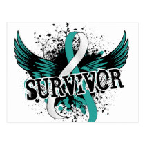 Survivor 16 Cervical Cancer Postcard