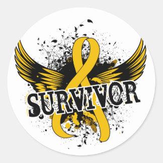 Survivor 16 Childhood Cancer Classic Round Sticker