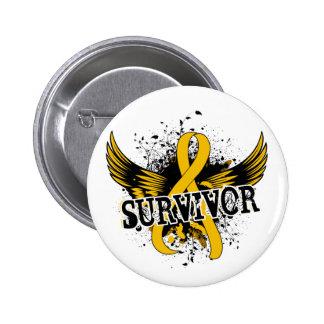Survivor 16 Childhood Cancer Pinback Button
