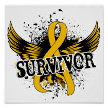Survivor 16 Childhood Cancer Poster