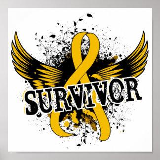 Survivor 16 Childhood Cancer Poster