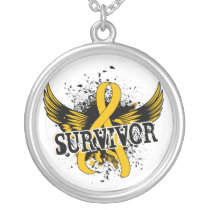 Survivor 16 Childhood Cancer Silver Plated Necklace