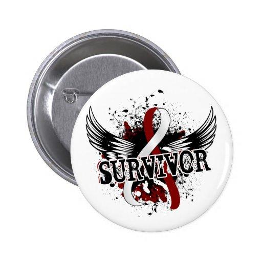 Survivor 16 Head and Neck Cancer 2 Inch Round Button
