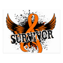 Survivor 16 Kidney Cancer Postcard