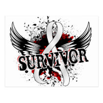 Survivor 16 Mesothelioma Postcard