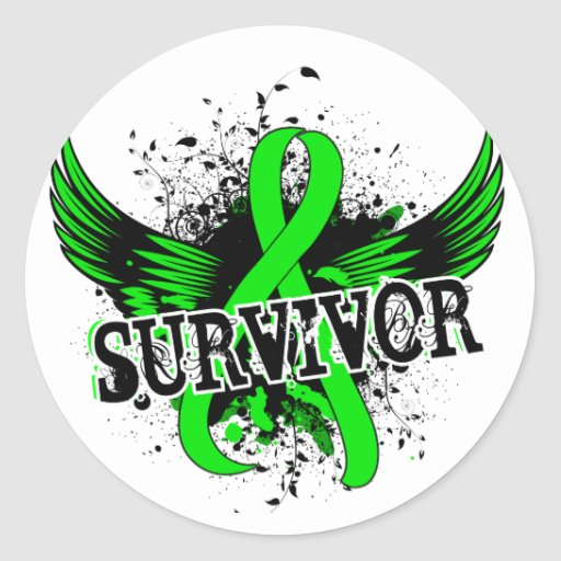 Survivor 16 Non-Hodgkin's Lymphoma Round Stickers