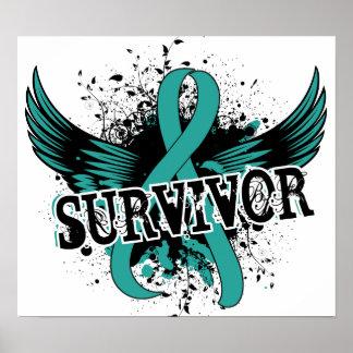 Survivor 16 Ovarian Cancer Poster