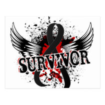 Survivor 16 Skin Cancer Postcard