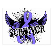 Survivor 16 Stomach Cancer Postcard