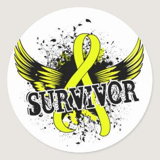 Survivor 16 Testicular Cancer Classic Round Sticker
